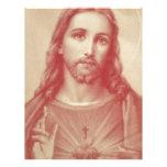 Vintage Sacred Heart of Jesus Letterhead Template