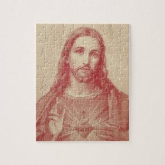 Vintage Sacred Heart of Jesus Puzzle