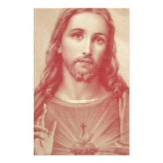 Vintage Sacred Heart of Jesus Stationery