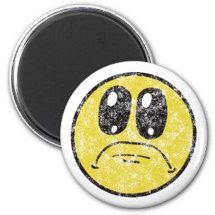 Vintage Sad Face Cartoon magnet