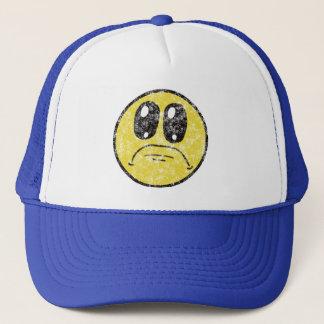 Vintage Sad Smiley Face Cartoon cap