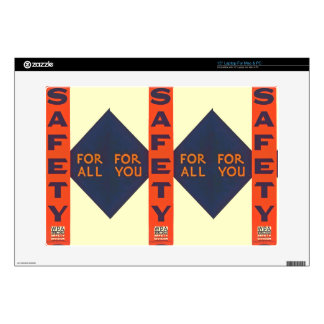 Vintage Safety For You Decal For Laptop