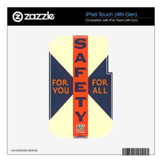 Vintage Safety For You iPod Touch 4G Skin