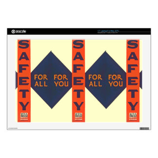 Vintage Safety For You Laptop Decal