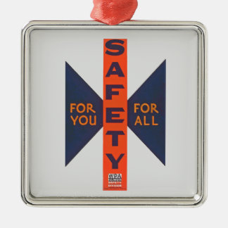 Vintage Safety For You Metal Ornament