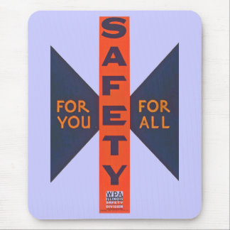 Vintage Safety For You Mouse Pad
