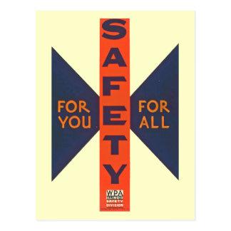 Vintage Safety For You Postcard
