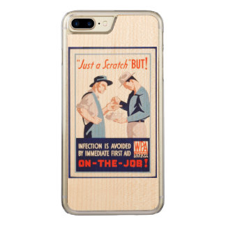 Vintage Safety On the Job First Aid WPA Poster Carved iPhone 7 Plus Case