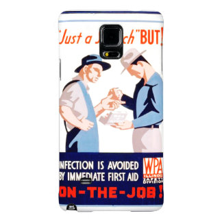 Vintage Safety On the Job First Aid WPA Poster Galaxy Note 4 Case