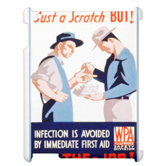 Vintage Safety On the Job First Aid WPA Poster Cover For The iPad 2 3 4