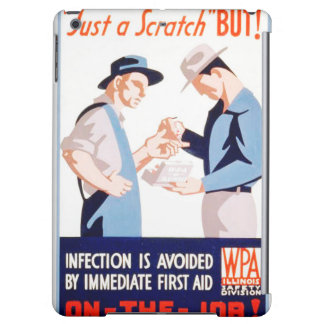 Vintage Safety On the Job First Aid WPA Poster iPad Air Covers