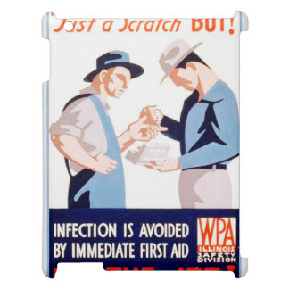 Vintage Safety On the Job First Aid WPA Poster iPad Covers