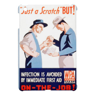 Vintage Safety On the Job First Aid WPA Poster iPad Mini Case