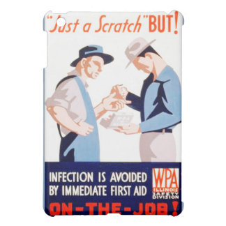 Vintage Safety On the Job First Aid WPA Poster iPad Mini Cover