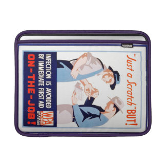 Vintage Safety On the Job WPA Poster Illinois MacBook Air Sleeves