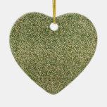 Vintage Sage Green Floral Ornament