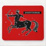 Vintage Sagittarius Mouse Pad