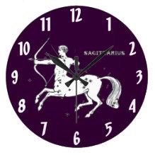 Vintage Sagittarius Wall Clock
