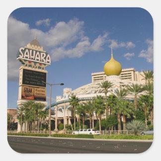 Vintage Sahara Hotel Las Vegas Square Sticker