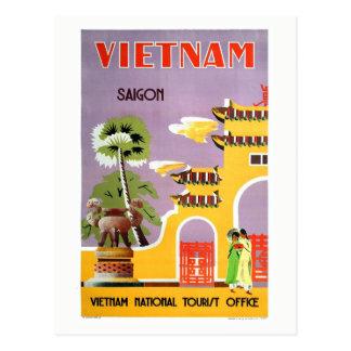 Vintage Saigon Vietnam Travel Postcard