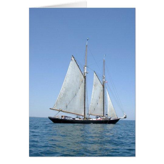 Vintage Sail boat Card