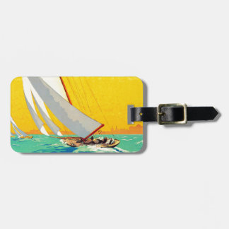 Vintage Sail Boats French Travel Luggage Tag