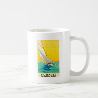 Vintage Sail Boats French Travel Coffee Mugs