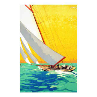 Vintage Sail Boats French Travel Stationery