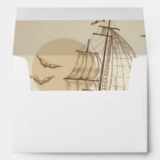 Vintage sailboat envelope