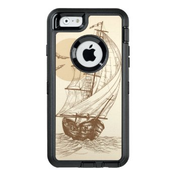 Vintage Sailboat Otterbox Defender Iphone Case by boutiquey at Zazzle