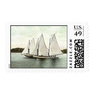 Vintage Sailboats II Postage