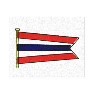 Vintage Sailing Navy Signal Flag Canvas Print
