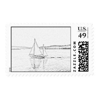 Vintage Sailing Postage