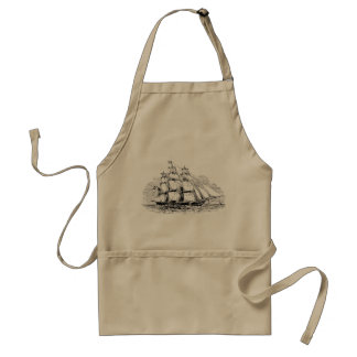 Vintage Sailing Ship Adult Apron
