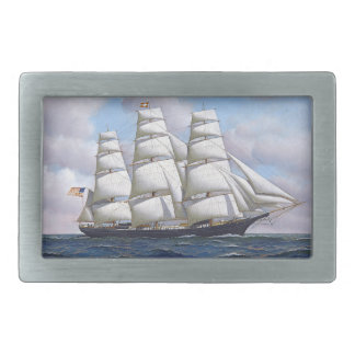 Vintage Sailing Ship Belt Buckle