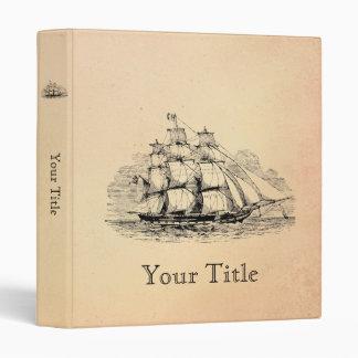 Vintage Sailing Ship Binder