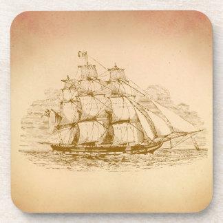 Vintage Sailing Ship Coaster