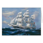 Vintage Sailing Ship Greeting Card