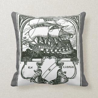 Vintage Sailing Ship Pillow