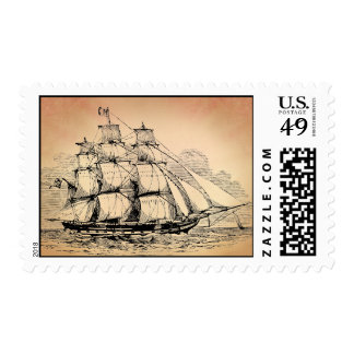 Vintage Sailing Ship Postage