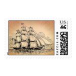 Vintage Sailing Ship Postage Stamp