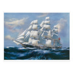 Vintage Sailing Ship Postcard