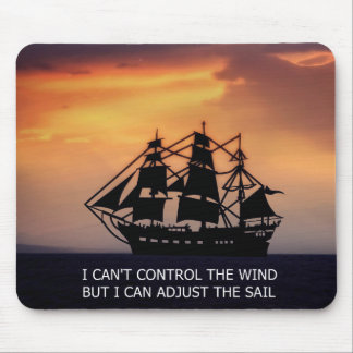 VINTAGE SAILING SHIP-QUOTE MOUSE PAD