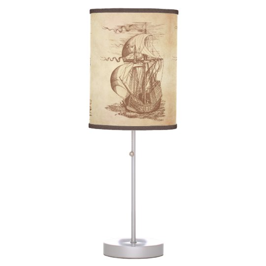 Strange Vintage Sailing Ship Table Lamp Interior Design Ideas Clesiryabchikinfo