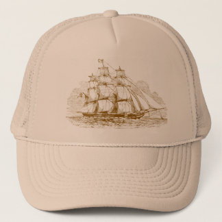 Vintage Sailing Ship Trucker Hat