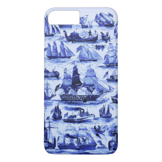 VINTAGE SAILING VESSELS AND SHIPS,Navy Blue iPhone 7 Plus Case