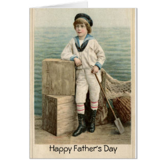 VINTAGE SAILOR BOY FATHER'S DAY CARD