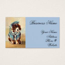 Vintage Sailor Dog Business Card