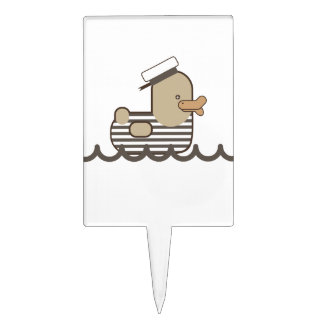 Vintage Sailor Duck Cake Topper