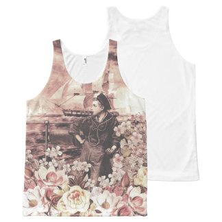 Vintage Sailor Floral All-Over-Print Tank Top